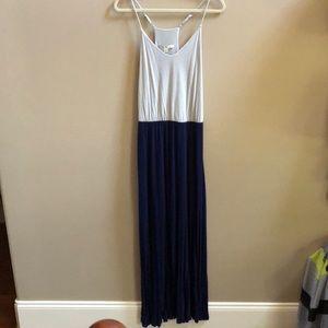 Women's dress grey and navy blue
